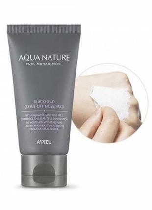 Очищающая маска-пленка для носа от черных точек a´pieu aqua nature