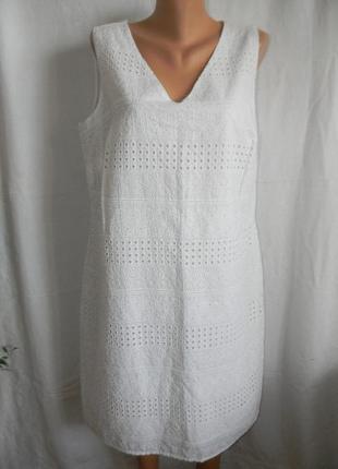 Новое белое натуральное кружевное платье tu