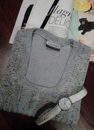 Кофта-жилетка пуловер свитер серая с короткими рукавами