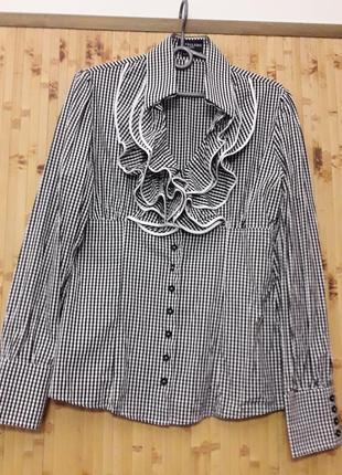 Рубашка в клетку  италия бренд cavallaro napoli p.38-40