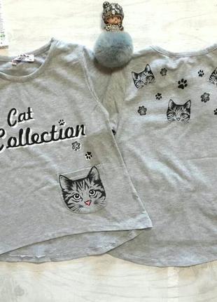 Туника для девочки с котиком , размер 116