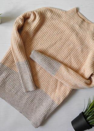 Свитер мягкий свитер кофта свитер с горлом рубчик свитшот m&s двухцветный свитер