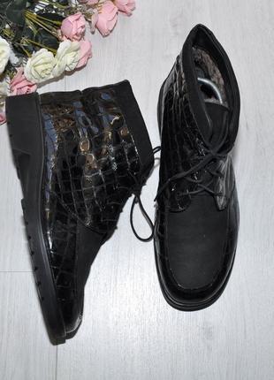 Зимние ботинки ganter 40-41р 26,5см натурал