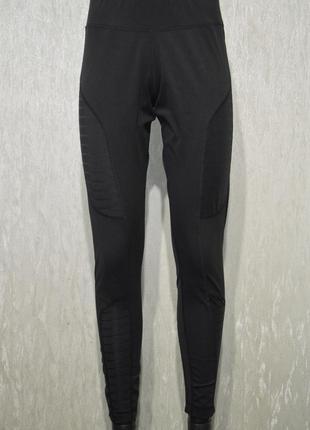 Беговые штаны, тайтсы, леггинсы reebok d legging mesh b84050