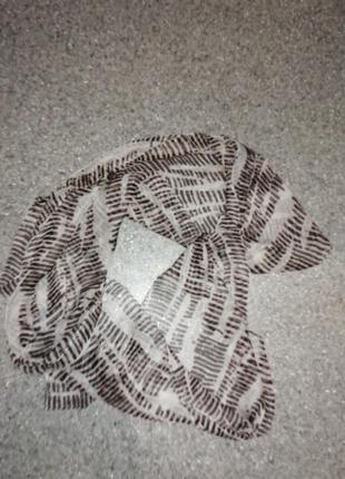 Легкий шифоновый шарф