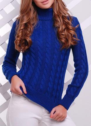 Вязаный женский свитер под горло (44-50/много цветов)