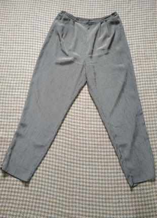 Шикарные брюки в вертикальную полоску, лёгкое плиссе!