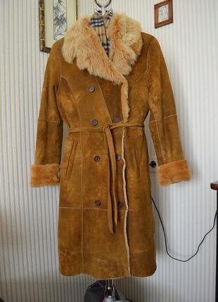 Дубленка шуба натуральная пальто меховое м 38 46 10 arturo италия