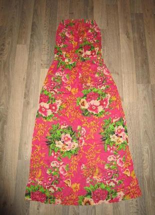 Платье бандо мега легкое на лето наш 48 евро м