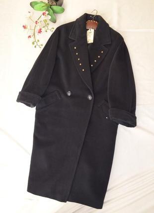 Пальто длинное бойфренд оверсайз 14 42 xl 100% шерсть parisian collection италия