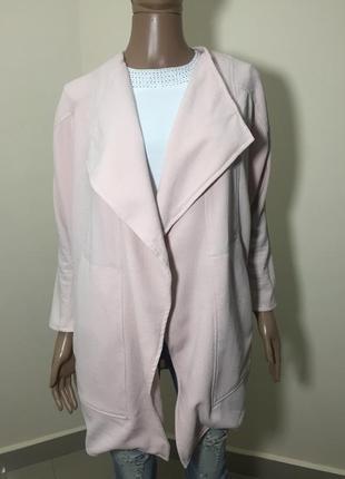 Розпродаж!!! пудровий кардиган піджак з великими кишенями