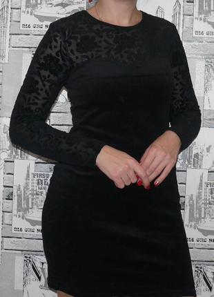 Платье бархатное трендовое, роскошное
