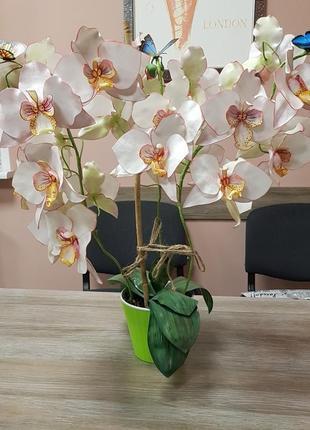 Декоративная орихидея в горшке,декоративные искусственные цветы