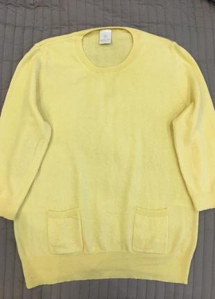 Кашемировый свитер madeleine. размер l. 100% кашемир.