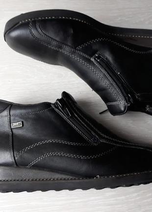 Тёплые кожаные  ботинки на шерсти rieker antistress размер 38