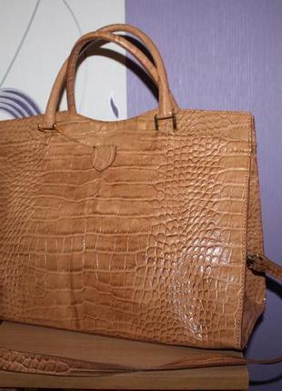 Итальянская кожаная сумка портфель pop corn milano