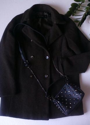 Пальто темно-оливковкового цвета💕 подарок шарфик на ваш выбор😘