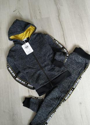bf62d0238c73 Спортивный костюм для мальчика, на подростков с лампасами тёплый с начёсом