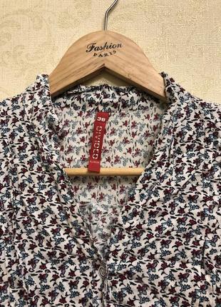 Красивая блузка/рубашка с удлиненной спинкой