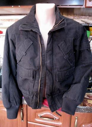 Куртка на синтепоне панк милитари от h&m