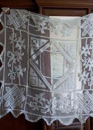 Скатерть вязаная крючком салфетка ручная работа ажурная квадратная
