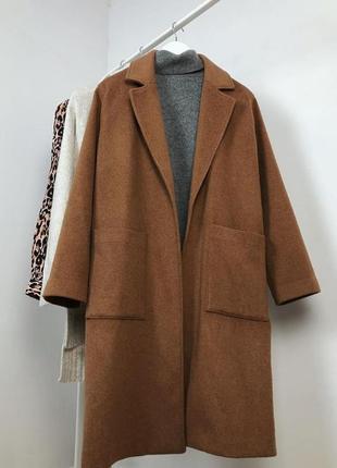 Шерстяное теплое новое пальто размер m-l