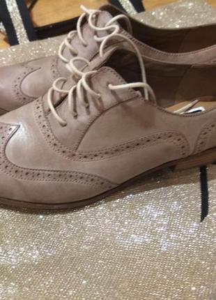 Кожаные туфли clarks 26.5см