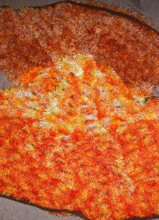 Плед травка одеяло покрывало ручной работы