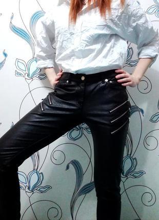 Крутейшие кожаные штаны yves saint laurent