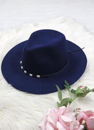 Темно-синяя шерстяная шляпа parfois