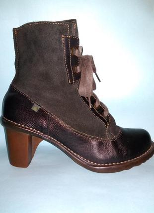 Ботинки el naturalista eur 38 на шнуровке и молнии