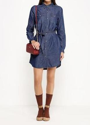 Платье джинсовое с нагрудными карманами с бирками