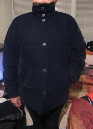Куртка зимняя пуховик оверсайз натуральный пух zara оригинал размер 14 или l новая