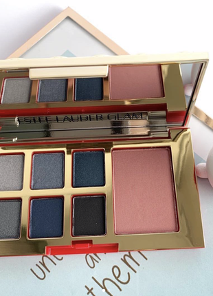 Палетка теней + румяна estee lauder pure color envy eye and cheek palette-glam
