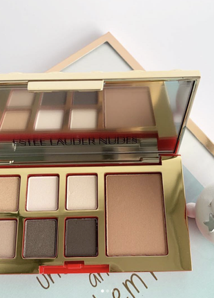 Палетка теней + скульптор estee lauder pure color envy eye and cheek palette-nudes