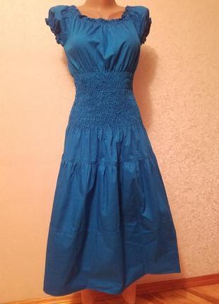 Платье с корсетом на резинке