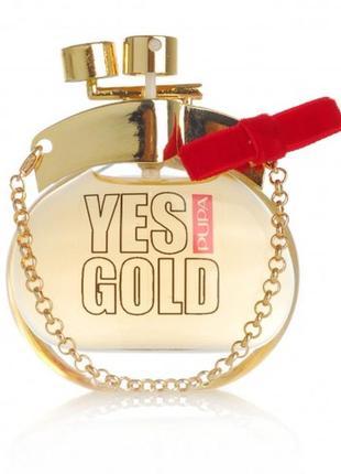 Женская туалетная вода pupa yes gold 100 мл