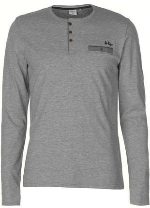 Легкая мужская кофта джампер, футболка с длинным рукавом. lee cooper