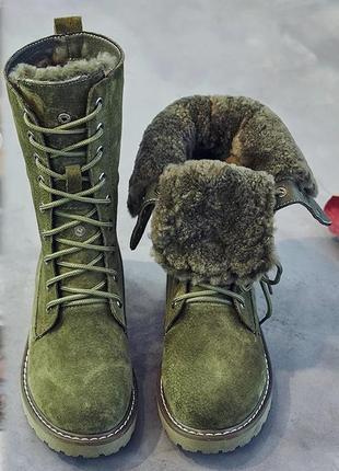 Женские ботинки на искусственном меху, модель типа мартенсы, суперцена!