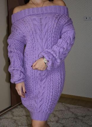 Новое вязаное платье ручной работы