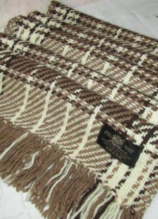 Теплющий , стильный шарф 100 % шерсть - италия