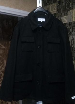 Сalvin klein милитари пальто шерстяное оригинал