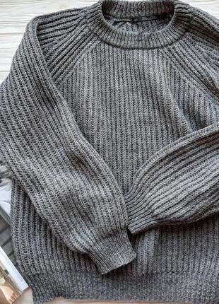 Вязанный свитер светр кофта zara
