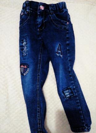 Суперские джинсы на мальчика 2-3 года, 92-98 см