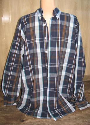 Большая мужская рубашка 45-46 ворот xxl john cabor