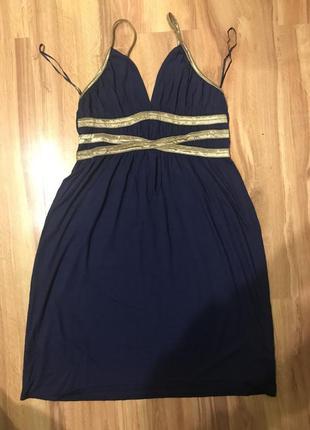 Літня синя сукня