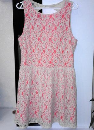 Нарядное гипюровое кружевное платье be beau