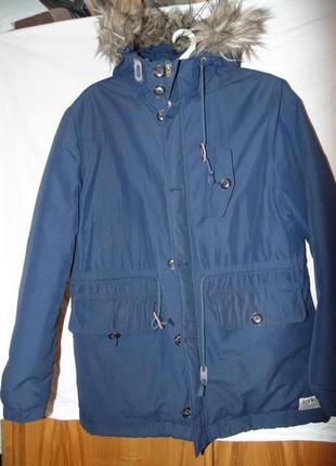 Куртка пуховик парка натуральный пух jack wills оригинал размер l на рост 180 - 200