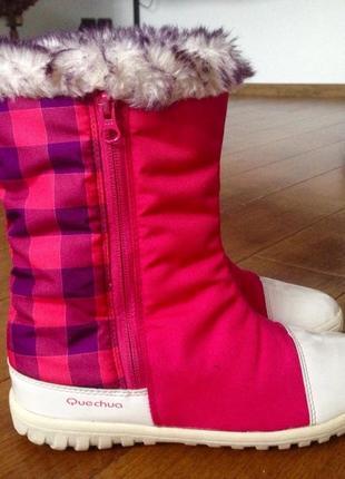 Термо ботинки, сапоги quechua мембрана novadry р. 37, 23 см., (стелька 23.5 см.)