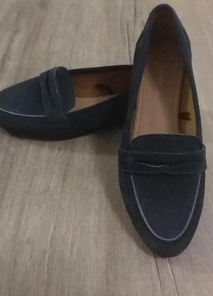 Туфли-мокасины soleflex. натуральная.  замша  новые